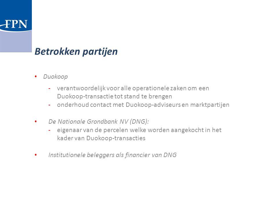 Duokoop -verantwoordelijk voor alle operationele zaken om een Duokoop-transactie tot stand te brengen -onderhoud contact met Duokoop-adviseurs en mark