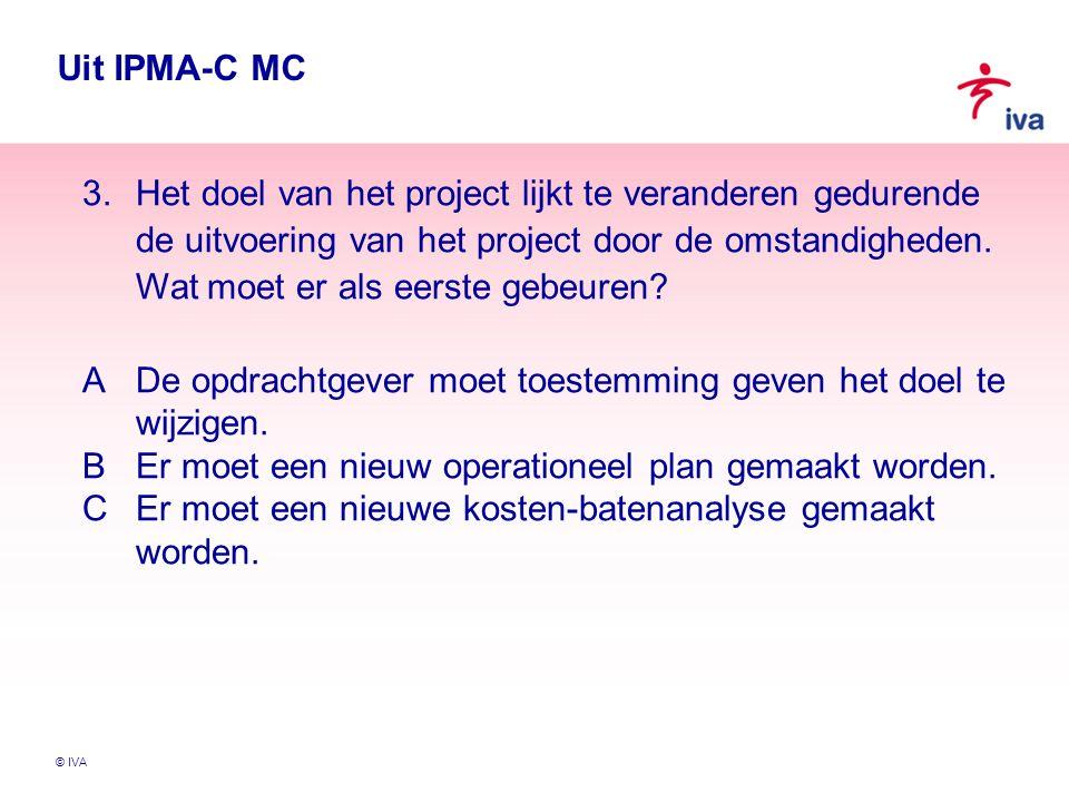© IVA Vragen Verandert projectmanagement mee met de veranderende context.