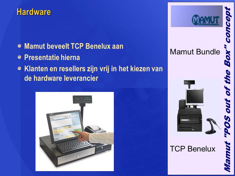 Hardware Mamut beveelt TCP Benelux aan Presentatie hierna Klanten en resellers zijn vrij in het kiezen van de hardware leverancier Mamut Bundle TCP Be