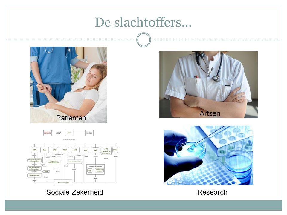 De slachtoffers… Patiënten Artsen Sociale ZekerheidResearch