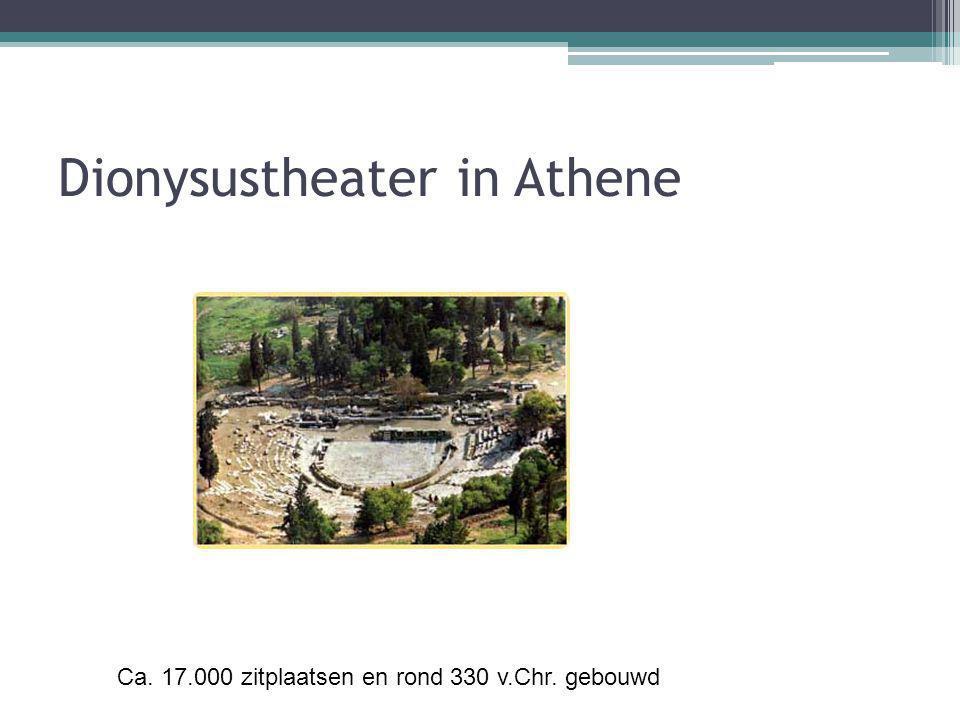 Dionysustheater in Athene Ca. 17.000 zitplaatsen en rond 330 v.Chr. gebouwd