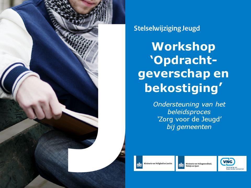 Ondersteuning van het beleidsproces 'Zorg voor de Jeugd' bij gemeenten Workshop 'Opdracht- geverschap en bekostiging '