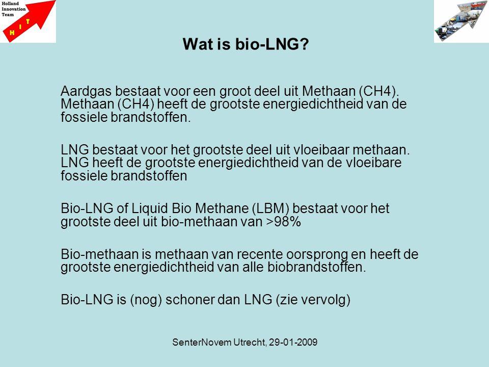SenterNovem Utrecht, 29-01-2009 Aardgas bestaat voor een groot deel uit Methaan (CH4). Methaan (CH4) heeft de grootste energiedichtheid van de fossiel