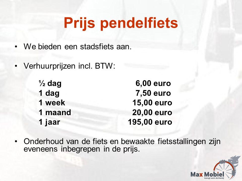 Prijs pendelfiets We bieden een stadsfiets aan. Verhuurprijzen incl.
