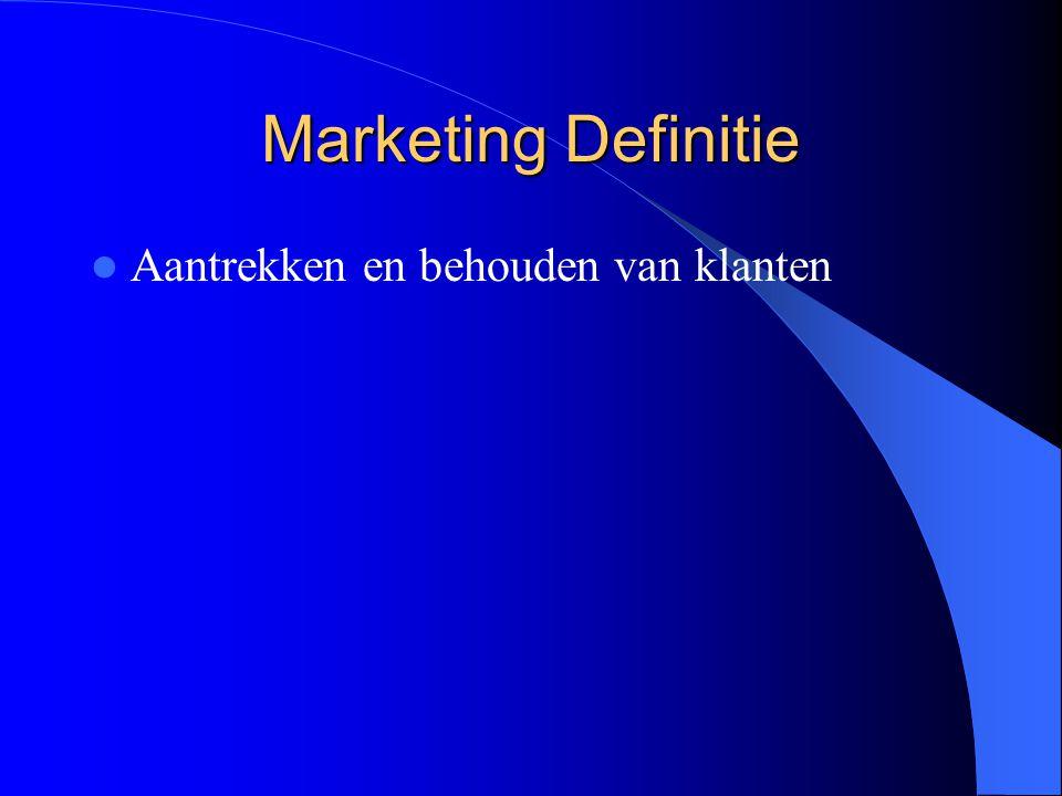 Marketing Definitie Aantrekken en behouden van klanten