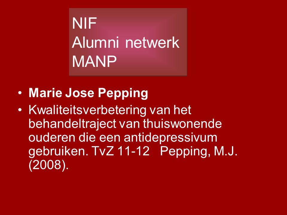 Marie Jose Pepping Kwaliteitsverbetering van het behandeltraject van thuiswonende ouderen die een antidepressivum gebruiken. TvZ 11-12 Pepping, M.J. (