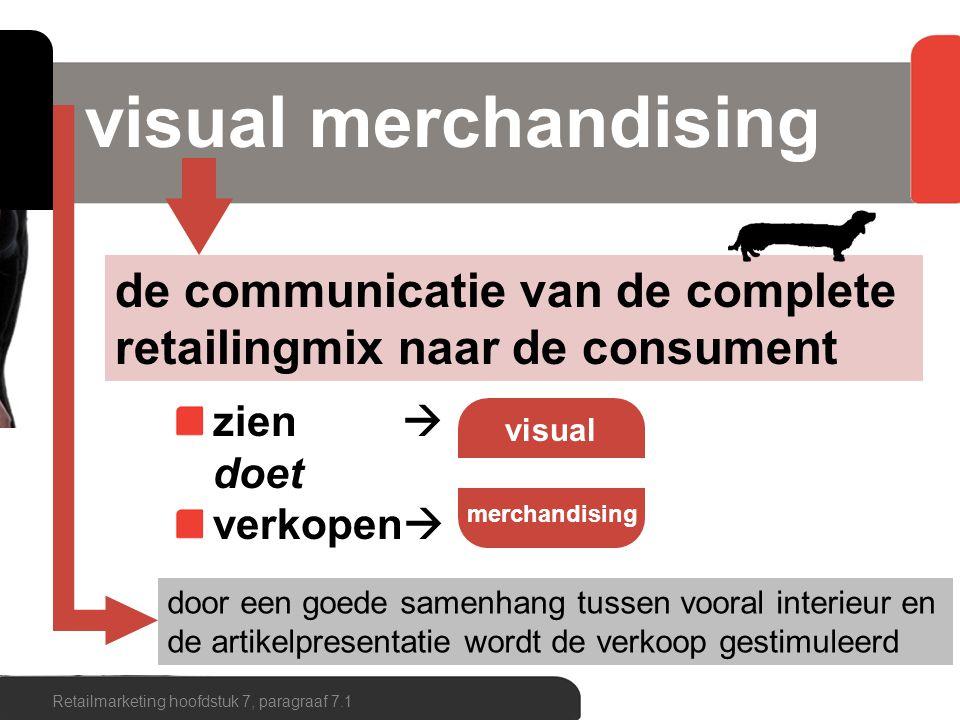 door een goede samenhang tussen vooral interieur en de artikelpresentatie wordt de verkoop gestimuleerd visual merchandising Retailmarketing hoofdstuk