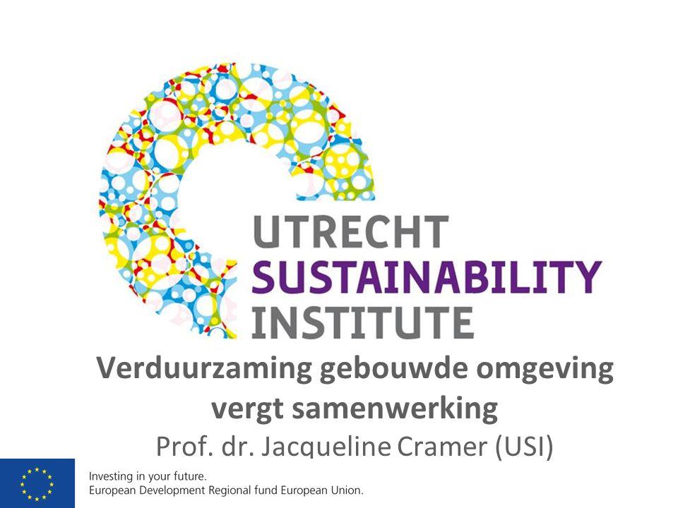 Verduurzaming gebouwde omgeving vergt samenwerking Prof. dr. Jacqueline Cramer (USI)