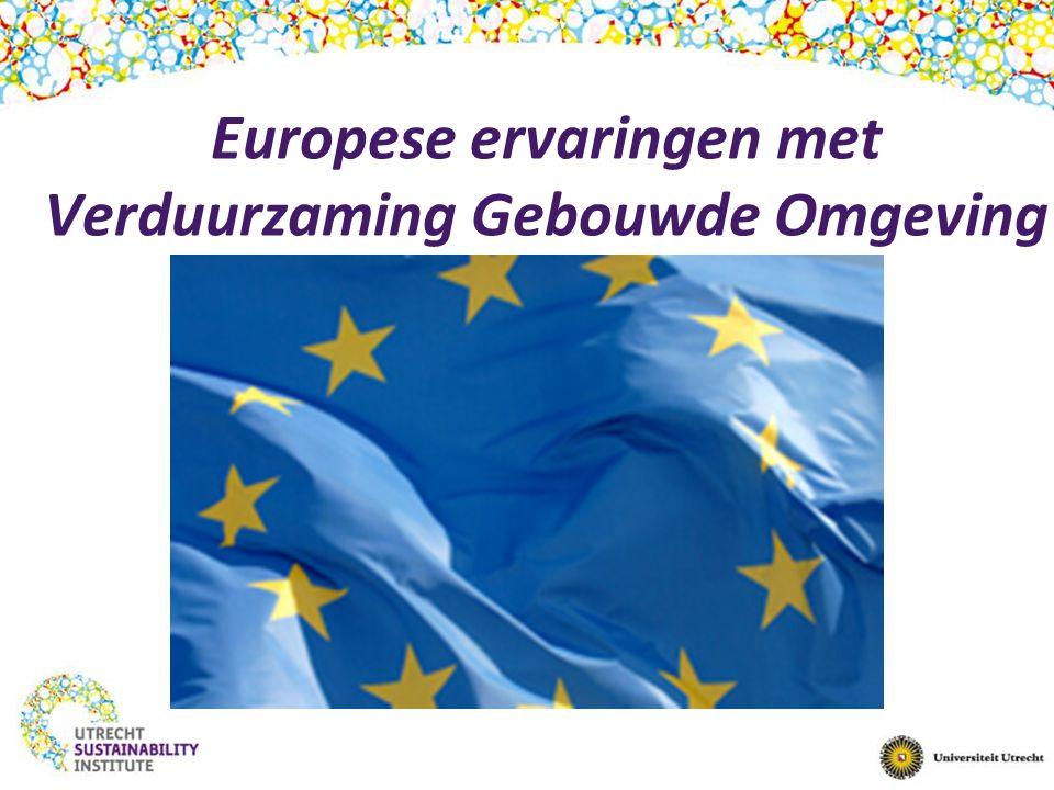 Europese ervaringen met Verduurzaming Gebouwde Omgeving