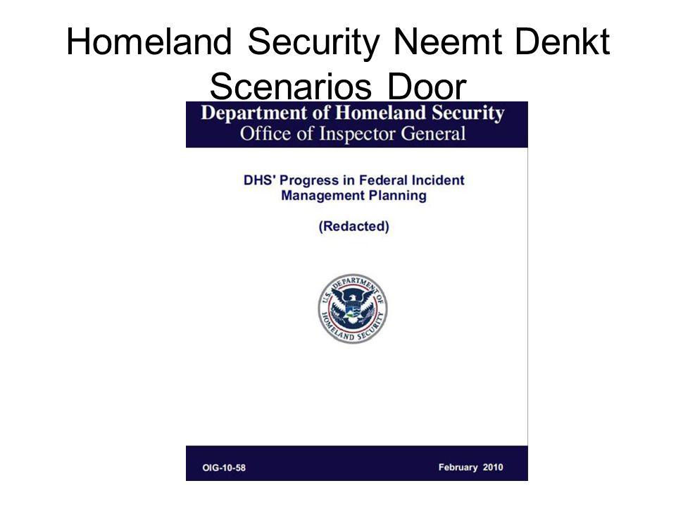 Homeland Security Neemt Denkt Scenarios Door