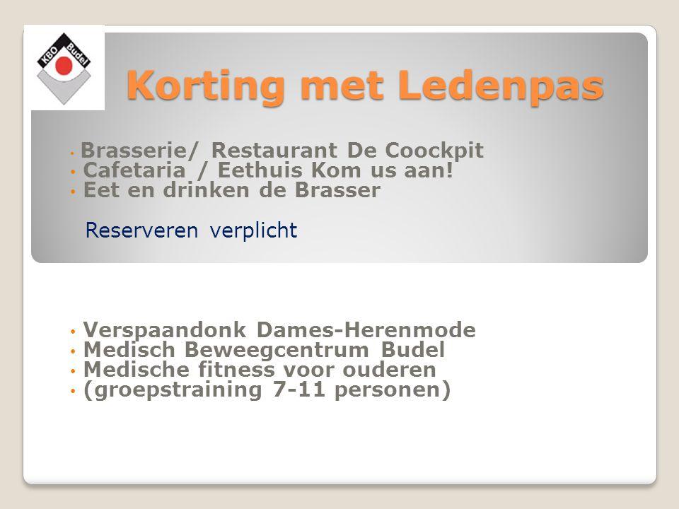 3 gangenmenu € 14,50* maandmenu = voorgerecht is soep reservering: verplicht o.b.v.