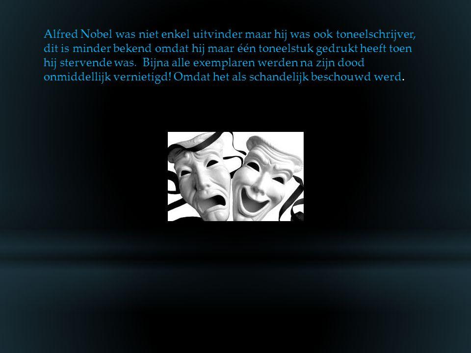 Verschillende andere broers en zusters van Alfred Nobel stierven op jonge leeftijd en ook hij had gezondheidsproblemen. Alfred Nobel is één van de ber