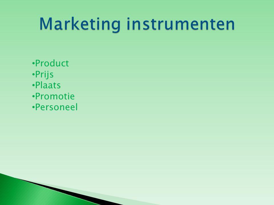 Product Prijs Plaats Promotie Personeel