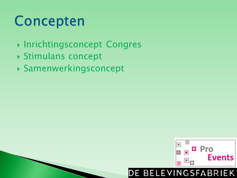  Inrichtingsconcept Congres  Stimulans concept  Samenwerkingsconcept