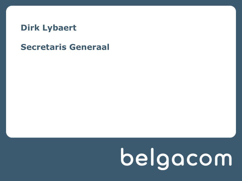 Dirk Lybaert Secretaris Generaal