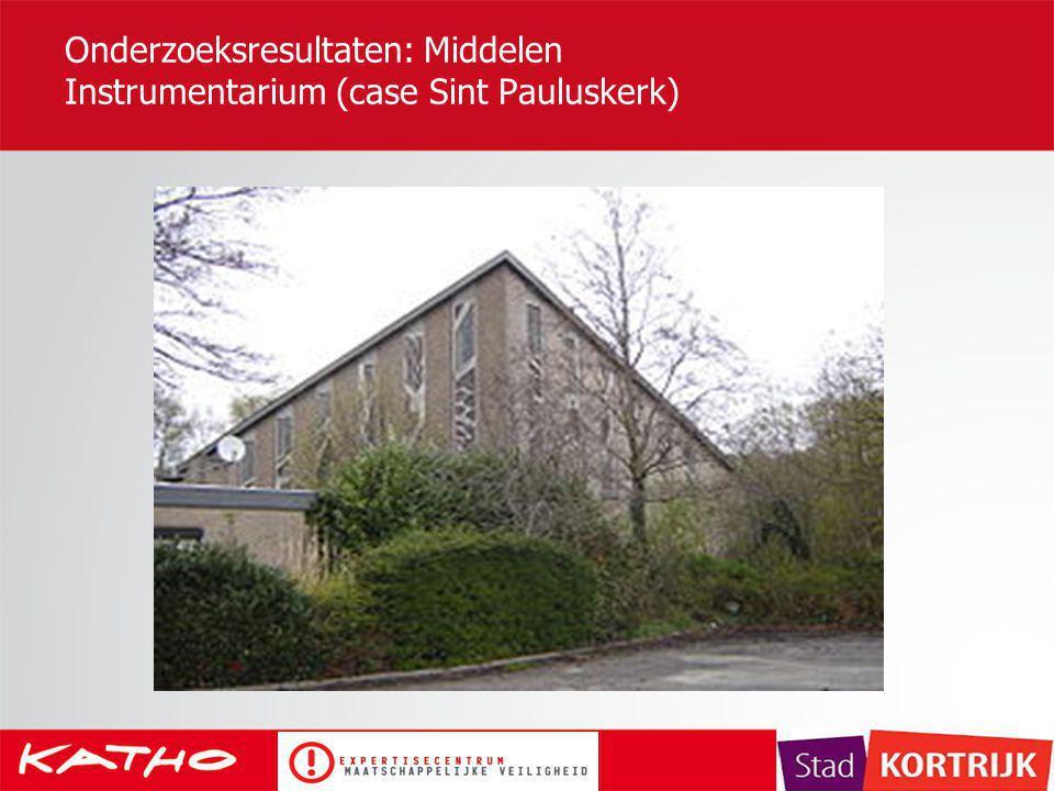 Onderzoeksresultaten: Middelen Instrumentarium (case Sint Pauluskerk)