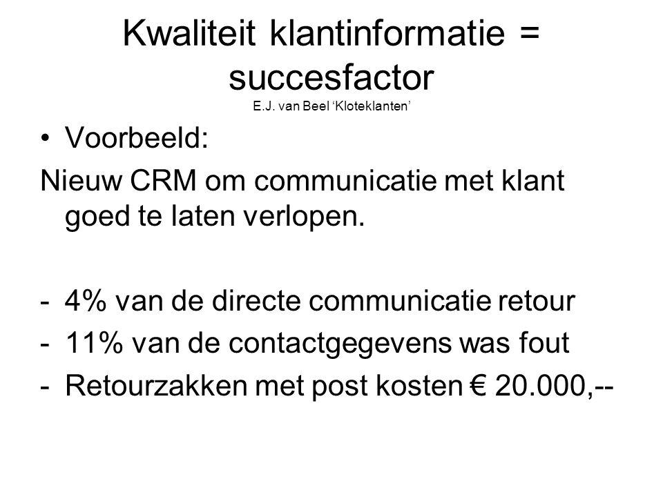 Kwaliteit klantinformatie = succesfactor E.J.