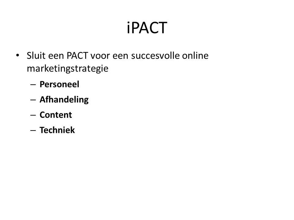 Sluit een PACT voor een succesvolle online marketingstrategie – Personeel – Afhandeling – Content – Techniek iPACT