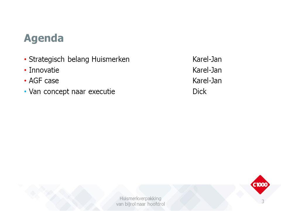 Strategisch belang HuismerkenKarel-Jan Innovatie Karel-Jan AGF caseKarel-Jan Van concept naar executieDick Agenda Huismerkverpakking van bijrol naar h