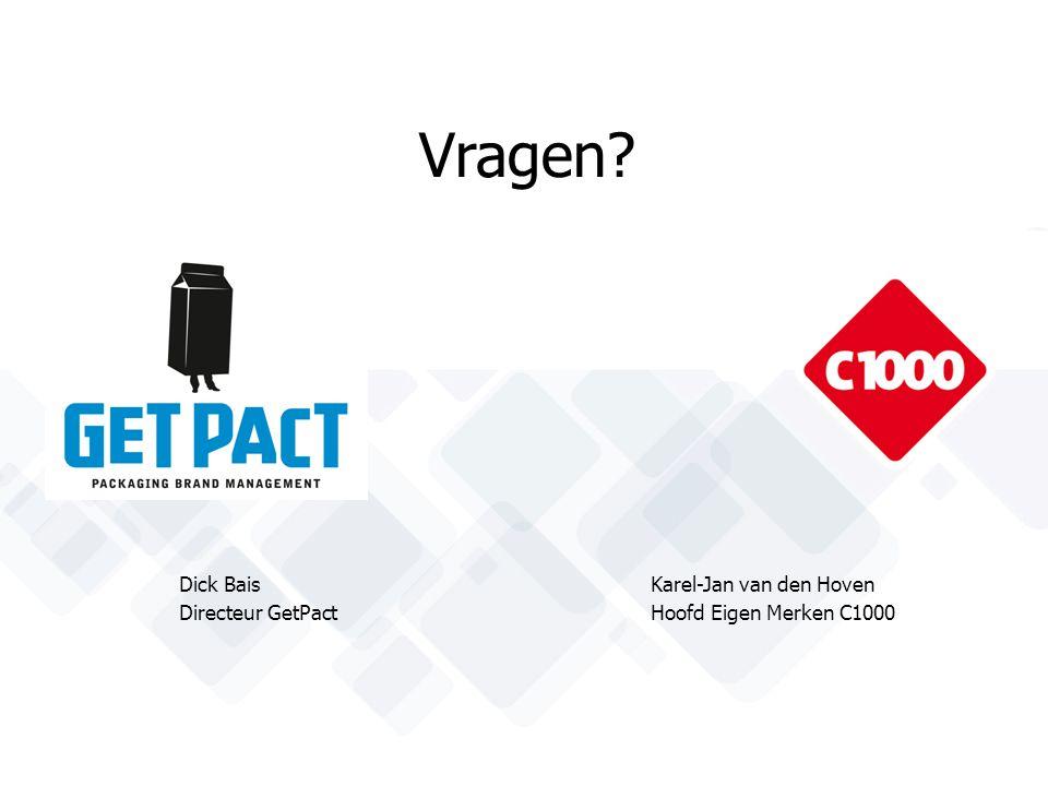 Vragen? Dick Bais Karel-Jan van den Hoven Directeur GetPactHoofd Eigen Merken C1000