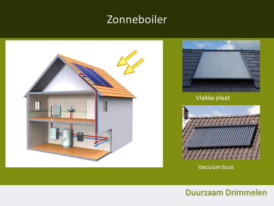 Zonneboiler Duurzaam Drimmelen Vlakke plaat Vacuüm buis
