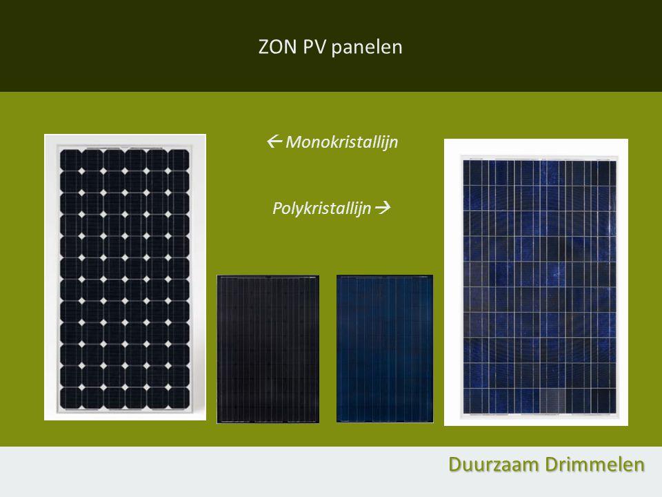 ZON PV panelen  Monokristallijn Polykristallijn  Duurzaam Drimmelen