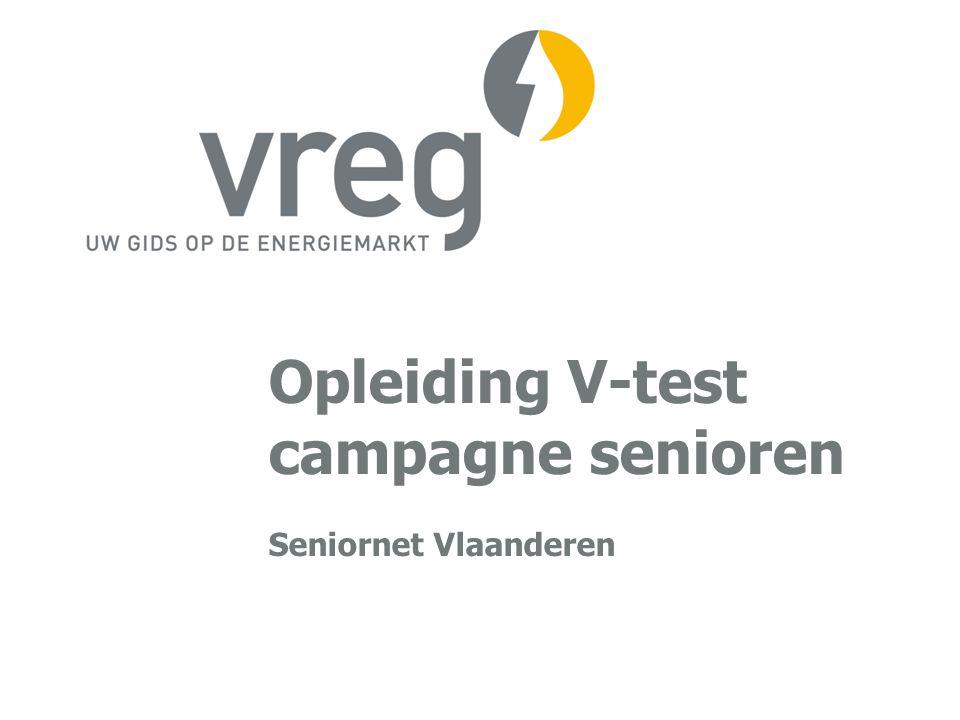 V-TEST: stap 5 (resultaat) VREG VLAAMSE REGULATOR VAN DE ELEKTRICITEITS- EN GASMARKTP 22