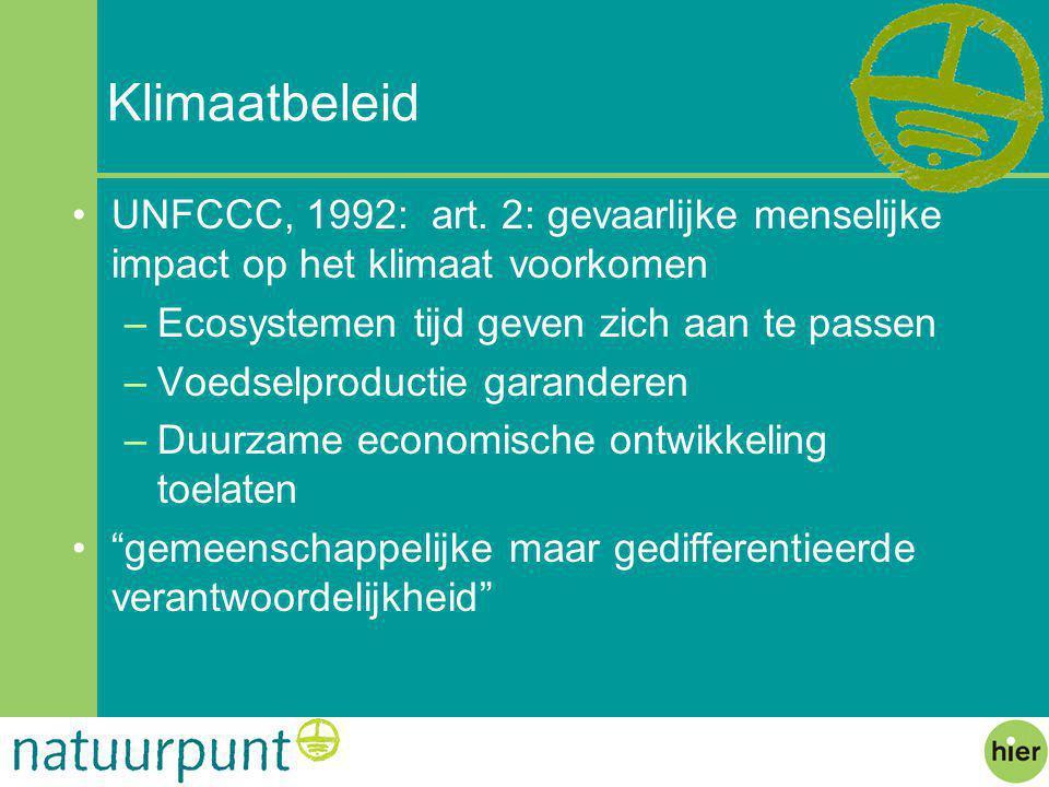 Klimaatbeleid UNFCCC, 1992: art.