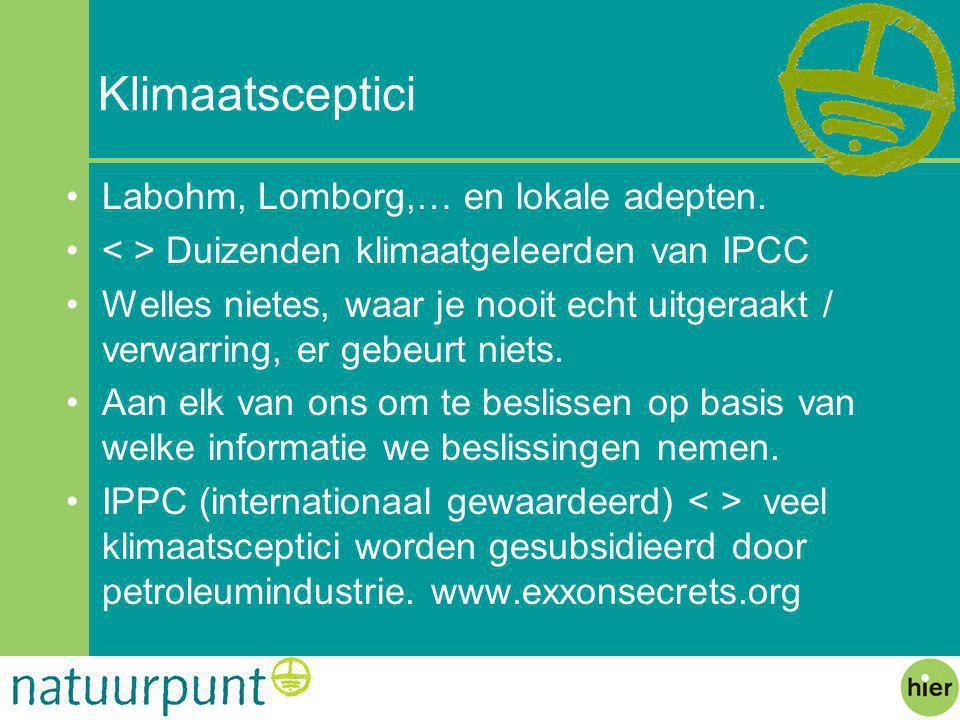 Klimaatsceptici Labohm, Lomborg,… en lokale adepten.