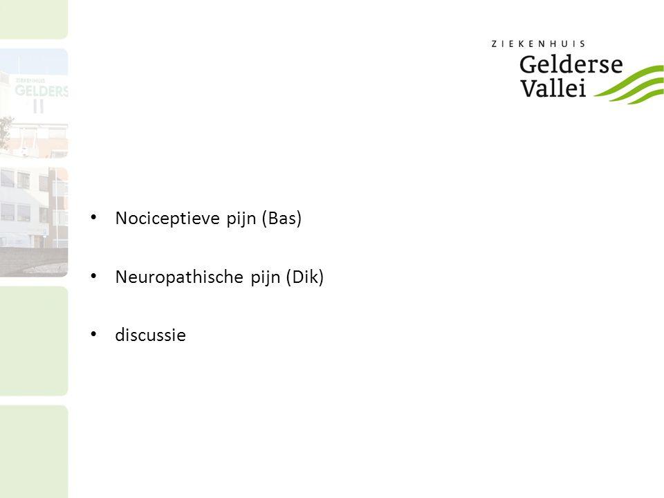 Nociceptieve pijn (Bas) Neuropathische pijn (Dik) discussie
