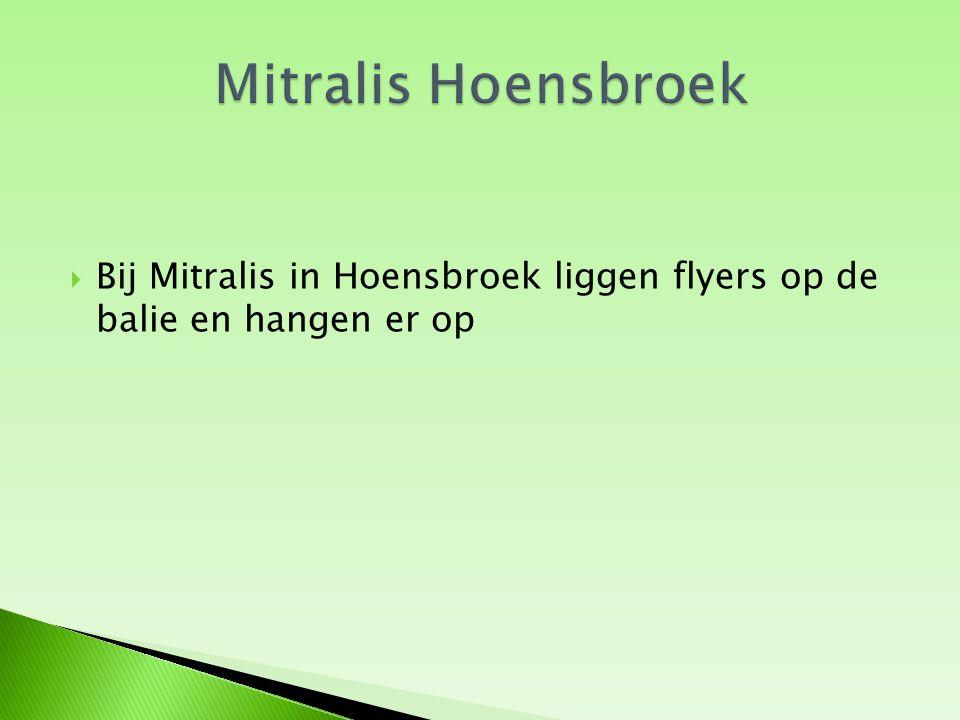  De Hema in Heerlen heeft de klanten bij iedere aankoop een flyer in het aankoopzakje gedaan