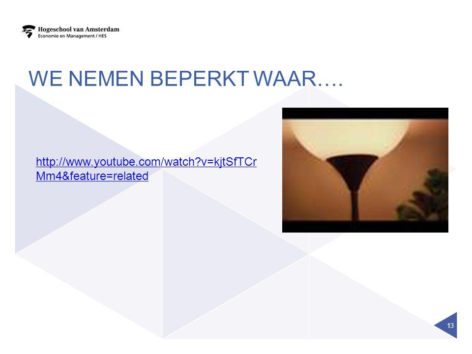 WE NEMEN BEPERKT WAAR…. 13 http://www.youtube.com/watch?v=kjtSfTCr Mm4&feature=related