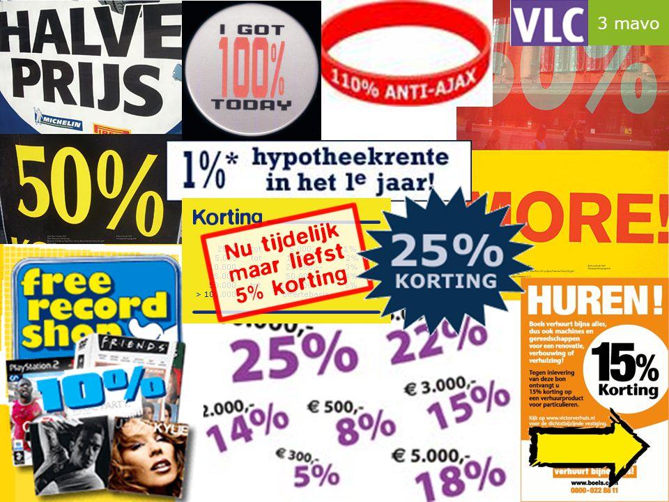 Instapopgave procenten taart voor € 7,- taart voor € 3,50 Boni is 100% duurder Appie is slechts 50% goedkoper  Welke uitspraak is juist.