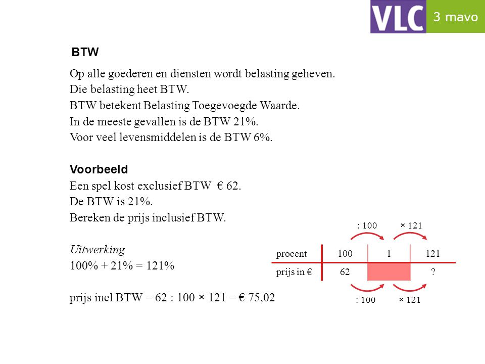 Percentage berekenen In de tabel zie je dat de neerslag in Nederland steeds toeneemt.