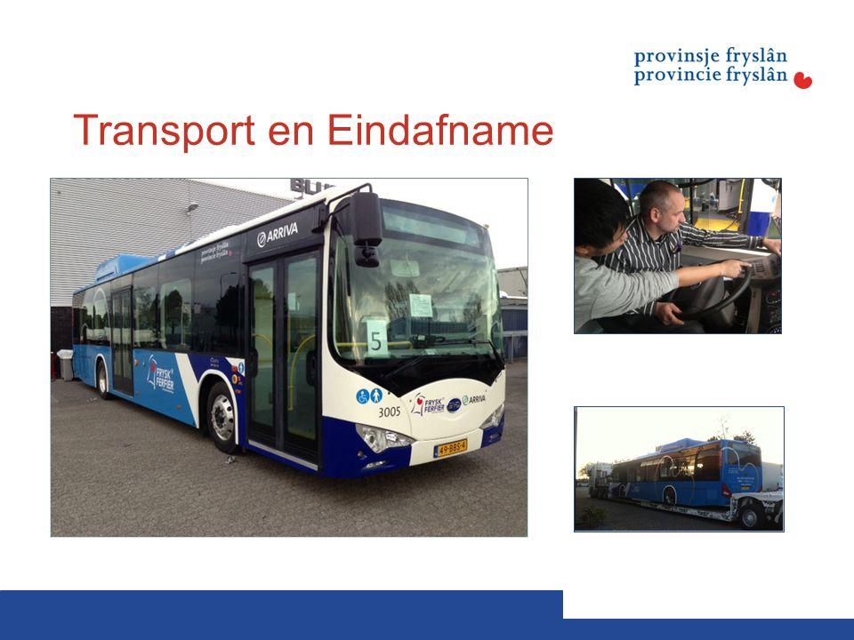 Transport en Eindafname