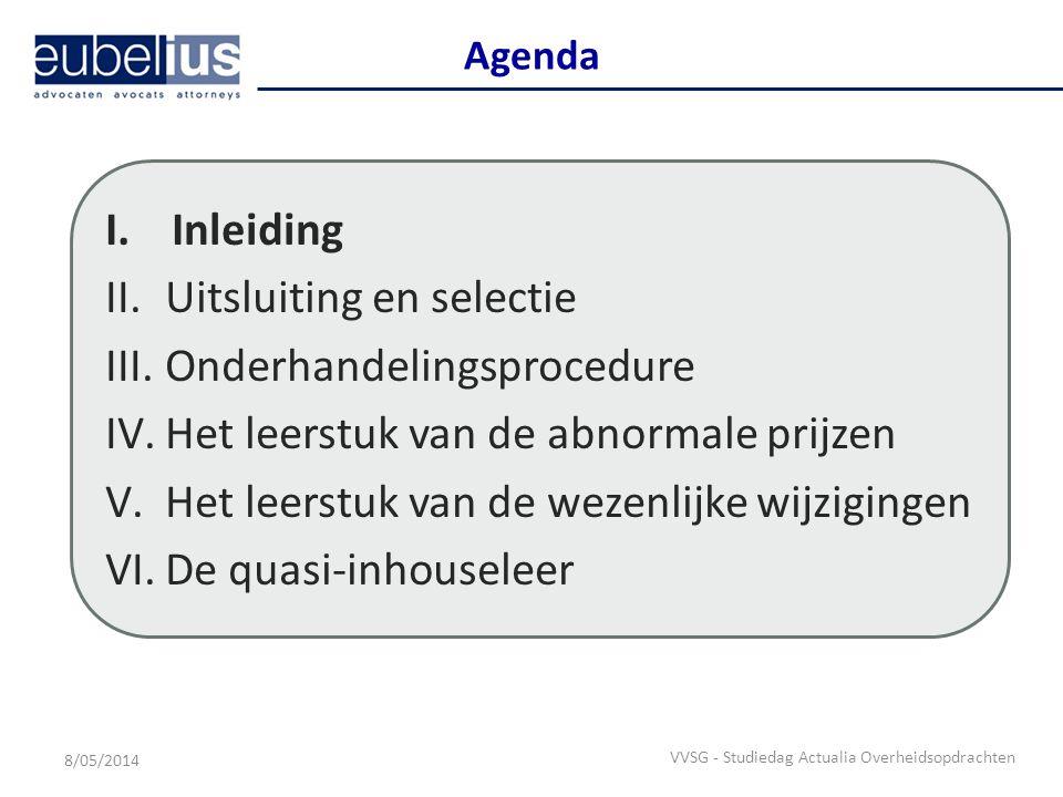 Inleiding  27 januari 2011 – Europese Commissie lanceert het Groenboek betreffende de modernisering van het EU-beleid inzake overheidsopdrachten – Voorstellen ter vereenvoudiging en modernisering van de (op vandaag toepasselijke) Europese overheidsopdrachtenregelgeving: Klassieke sectoren: Richtlijn 2004/18/EG van het Europees Parlement en de Raad van 31 maart 2004 betreffende de coördinatie van de procedures voor het plaatsen van overheidsopdrachten voor werken, leveringen en diensten Bijzondere sectoren: Richtlijn 2004/17/EG van het Europees Parlement en de Raad van 31 maart 2004 houdende coördinatie van de procedures voor het plaatsen van opdrachten in de sectoren water en energievoorziening, vervoer en postdiensten – Doelstellingen Vereenvoudiging gunningsprocedures Verbetering van de toegang tot overheidsopdrachten (i.h.b.