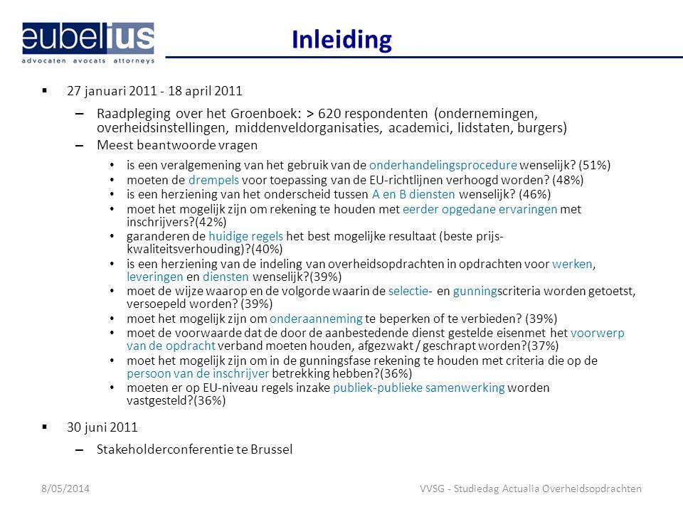 Facultatieve uitsluitingsgronden 8/05/2014 VVSG - Studiedag Actualia Overheidsopdrachten KB 15 juli 2011Art.