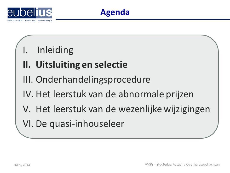Uitsluiting en selectie Nieuwe regels inzake uitsluiting en selectie : voornaamste doelstellingen – Vermindering van de bureaucratische rompslomp en administratieve belasting, i.h.b.