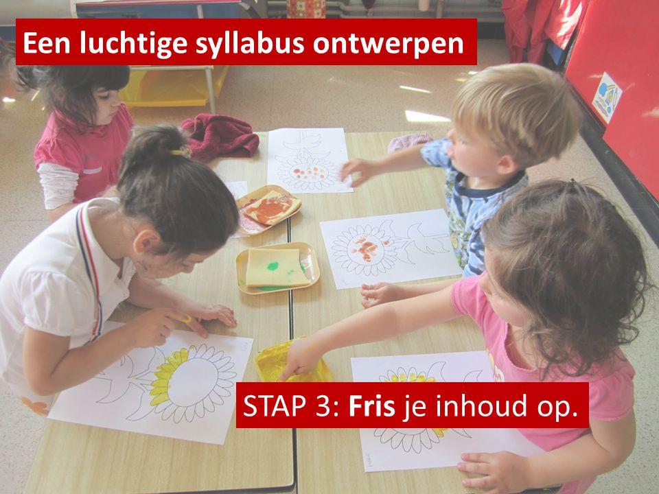 Een luchtige syllabus ontwerpen STAP 3: Fris je inhoud op.