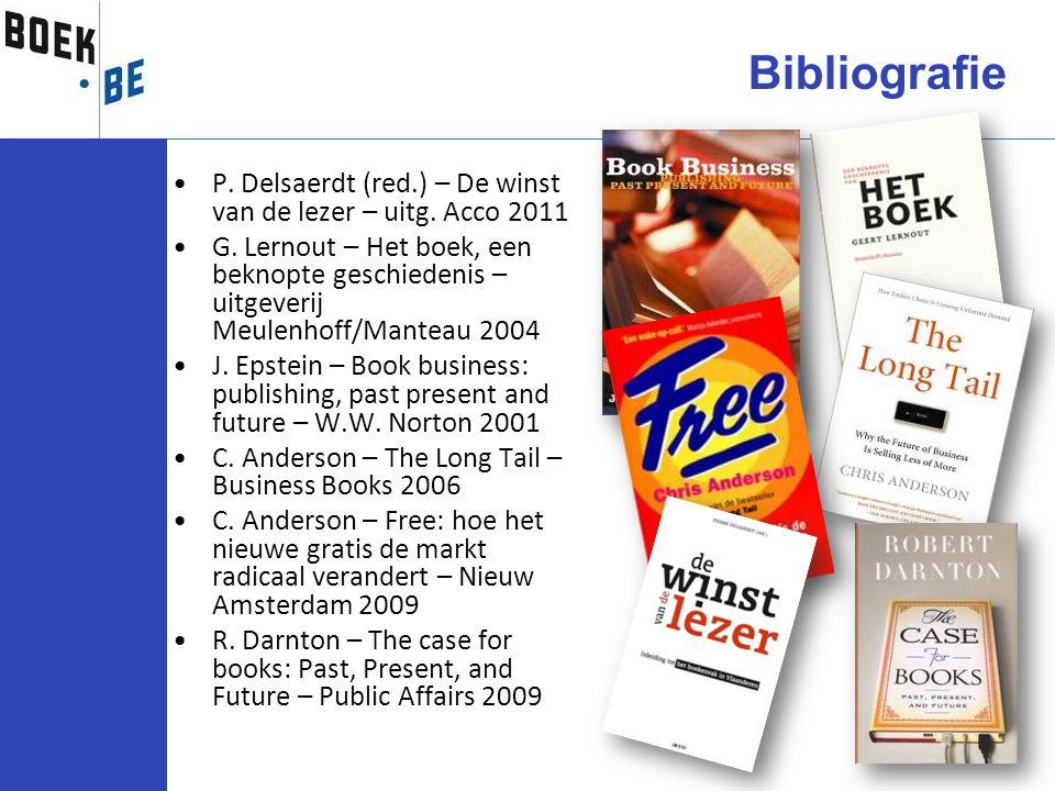 P. Delsaerdt (red.) – De winst van de lezer – uitg. Acco 2011 G. Lernout – Het boek, een beknopte geschiedenis – uitgeverij Meulenhoff/Manteau 2004 J.