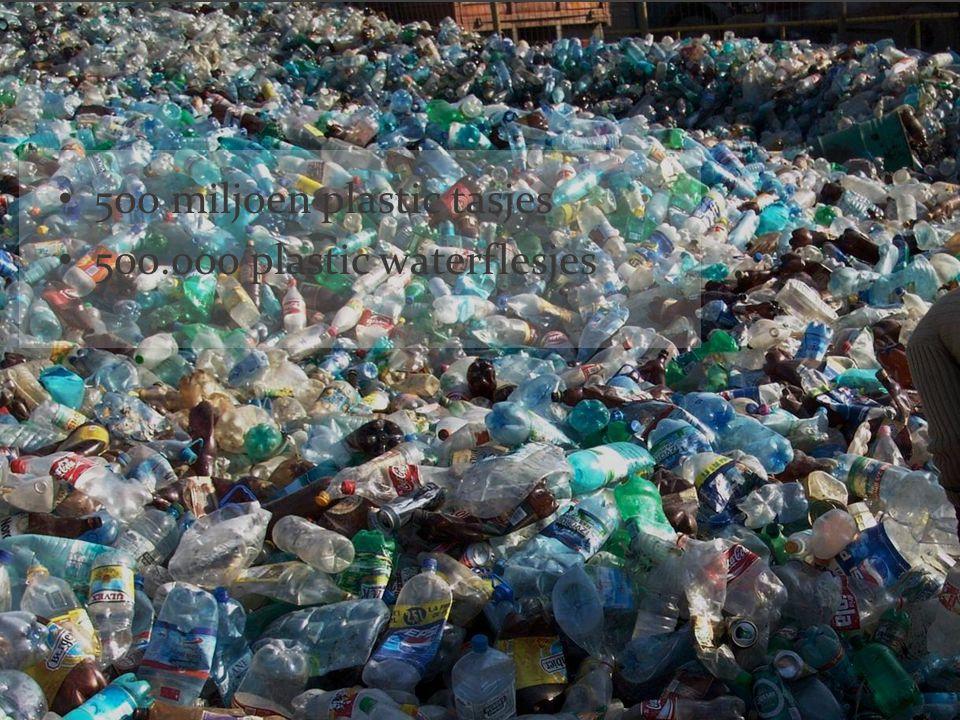 500 miljoen plastic tasjes 500.000 plastic waterflesjes
