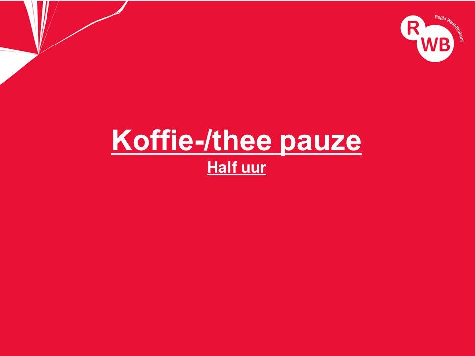 titel Koffie-/thee pauze Half uur
