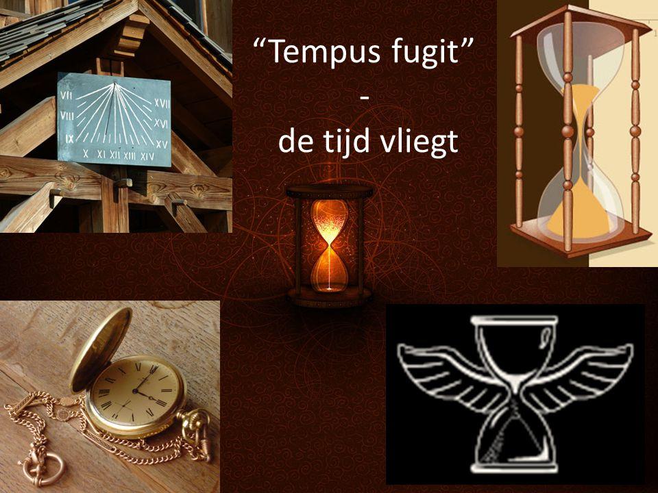 """""""Tempus fugit"""" - de tijd vliegt"""