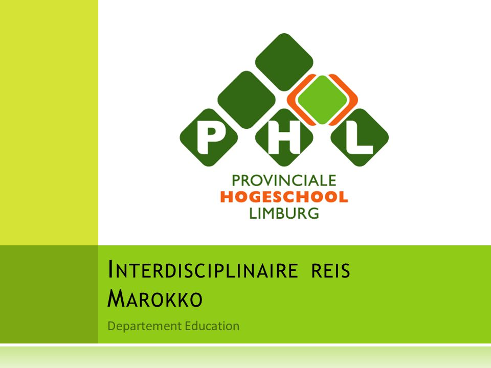 Departement Education I NTERDISCIPLINAIRE REIS M AROKKO