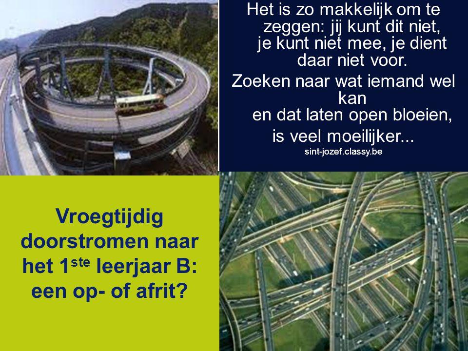 Karel de Grote-Hogeschool info@kdg.be www.kdg.be Het is zo makkelijk om te zeggen: jij kunt dit niet, je kunt niet mee, je dient daar niet voor.