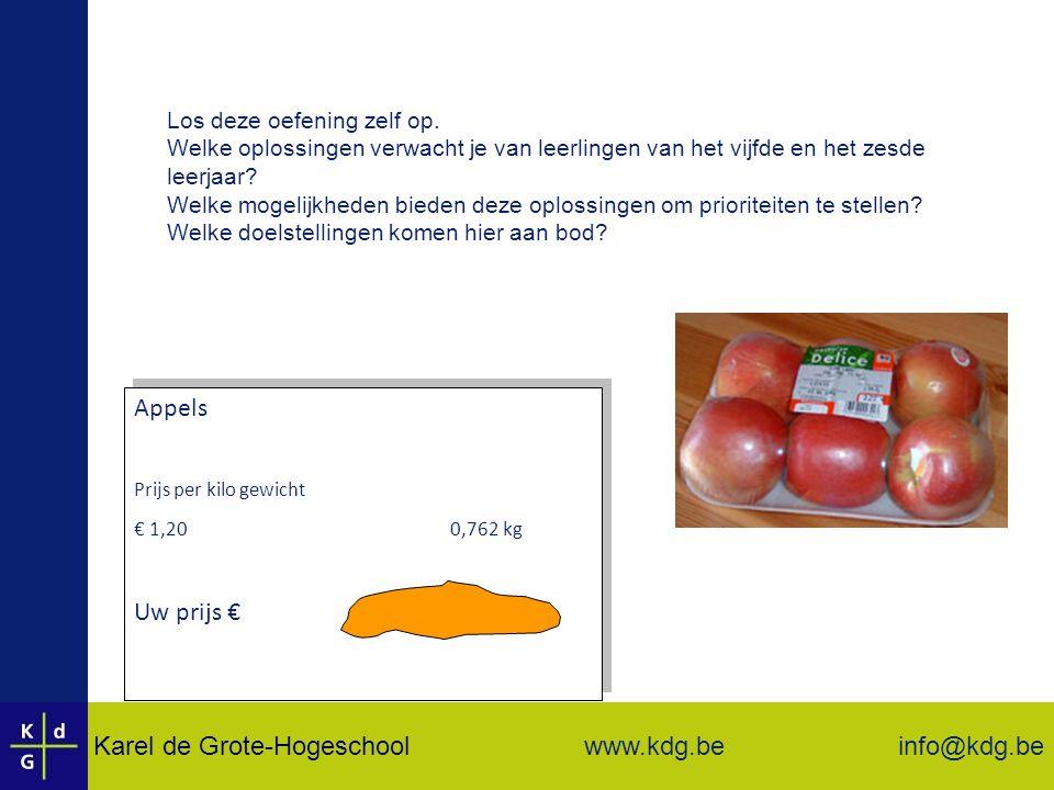 Karel de Grote-Hogeschool info@kdg.be www.kdg.be Los deze oefening zelf op.