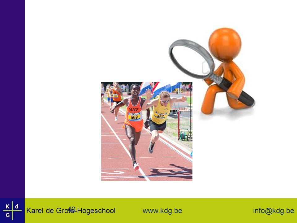Karel de Grote-Hogeschool info@kdg.be www.kdg.beKarel de Grote-Hogeschool info@kdg.be www.kdg.be 40