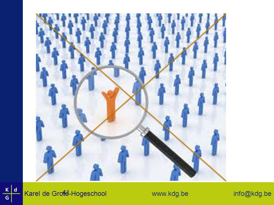 Karel de Grote-Hogeschool info@kdg.be www.kdg.be 41