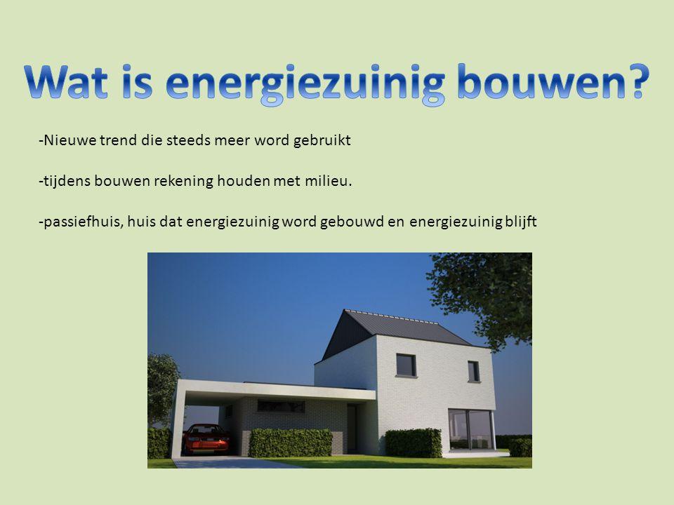 -Nieuwe trend die steeds meer word gebruikt -tijdens bouwen rekening houden met milieu.