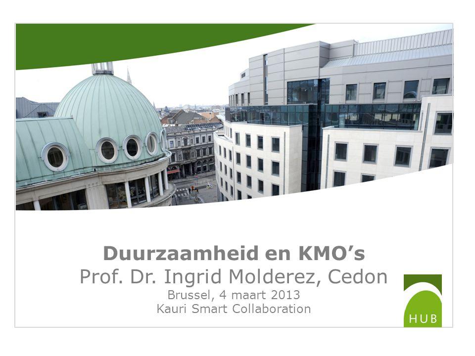 Duurzaamheid en KMO's Prof. Dr.